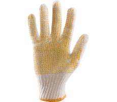 Rękawice Dziane Nakrapiane Jednostronnie PCV (RRN1)