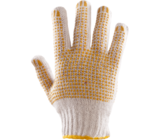 Rękawice Dziane Nakrapiane obustronnie PCV (RRN2)