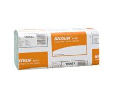 Katrin Basic Hand Towel Zig Zag Green  (składane V )