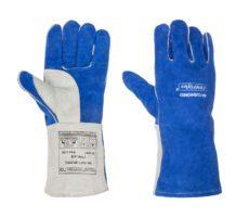 Rękawica spawalnicza wykonana z niebieskiej dwoiny bydlęcej