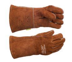 Rękawica spawalnicza z prostym i wzmacnianym kciukiem, wykonana z dwoiny bydlęcej